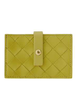 Bottega Veneta Green Intrecciato Small Card Holder
