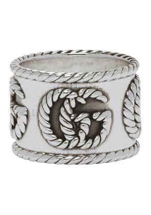 Gucci Silver Double G Ring
