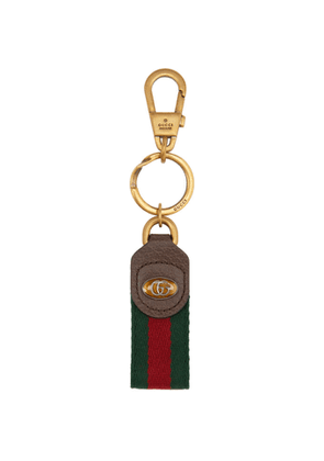 Gucci Green and Red Ophidia Keychain