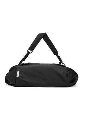 Cote and Ciel Black Obed Smooth Duffle Bag