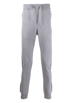 Balmain logo-print tapered track pants - Grey