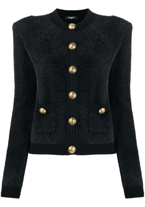 Balmain single-breasted knitted cardigan - Black