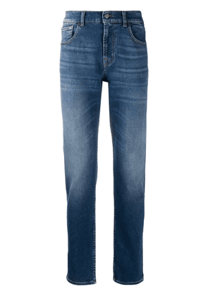 7 For All Mankind straight-leg mid-rise jeans - Blue