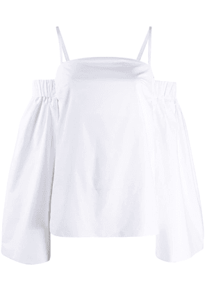 Patou off-the-shoulder blouse - White