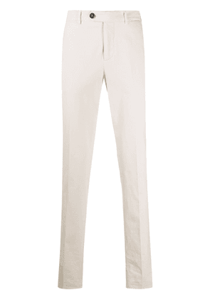 Brunello Cucinelli slim-leg cotton chinos - Neutrals