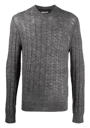 Dsquared2 knitted wool jumper - Grey