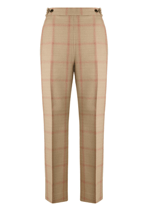 Marni flared check trousers - Neutrals