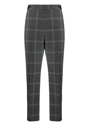 Marni flared check trousers - Grey