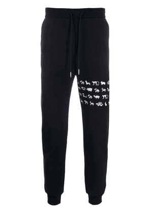 Thom Browne tapered track pants - Blue