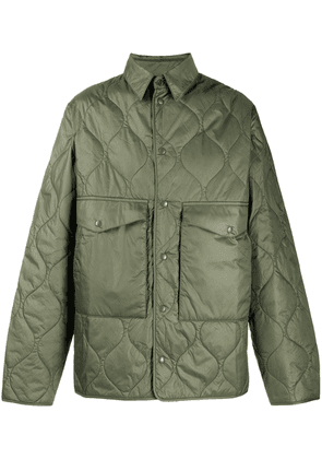 Aspesi quilted two-pocket jacket - Green