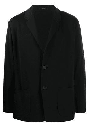 Issey Miyake single-breasted fitted blazer - Blue
