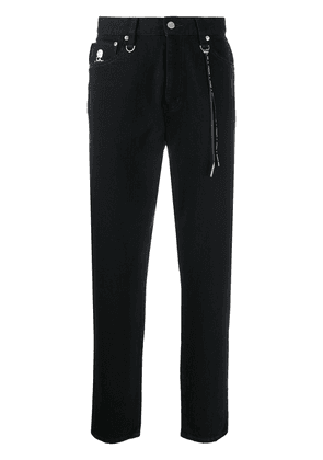 Mastermind World high-rise straight leg jeans - Black