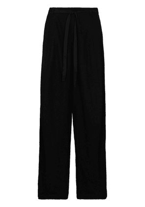 Ann Demeulemeester drawstring wide-leg trousers - Black