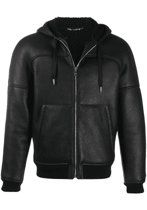 Dolce & Gabbana lambskin hooded jacket - Black