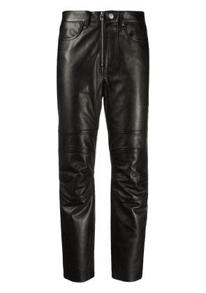 Zadig & Voltaire straight-leg leather trousers - Black
