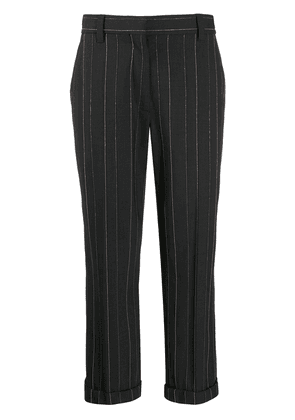 Brunello Cucinelli pinstripe cropped trousers - Grey