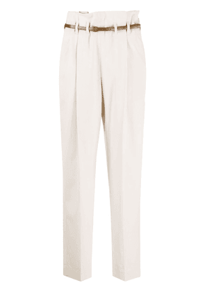 Brunello Cucinelli high waist trousers - Neutrals