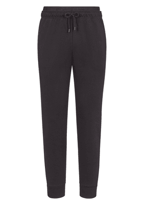 Fendi drawstring-waist cotton trousers - Black