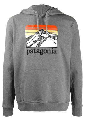 Patagonia logo embroidered hoodie - Grey