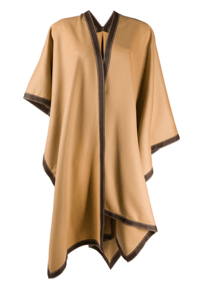 Balmain Draped wool poncho - Neutrals