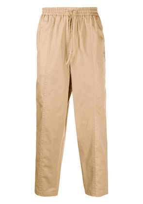Jil Sander drawstring cropped tapered trousers - Neutrals