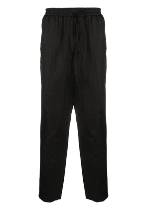 Jil Sander drawstring cropped tapered trousers - Black
