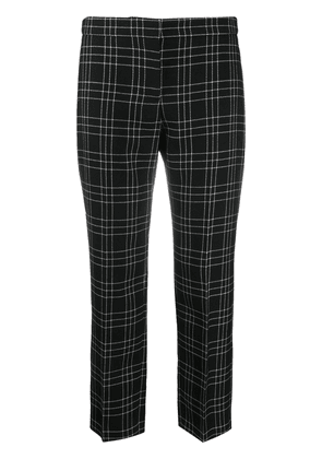Alexander McQueen check cropped trousers - Black