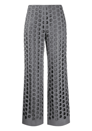 Maison Margiela hole punched tailored trousers - Grey