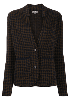 N.Peal dogtooth Milano cashmere jacket - Brown