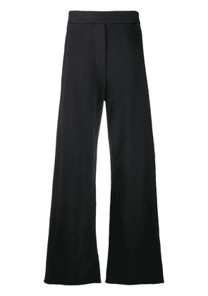 MM6 Maison Margiela wide-leg cotton track pants - Black