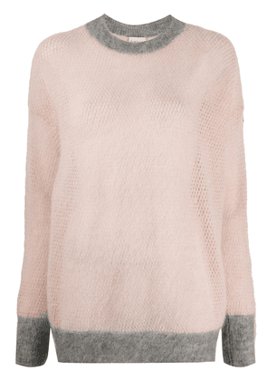Moncler oversized open-knit jumper - PINK