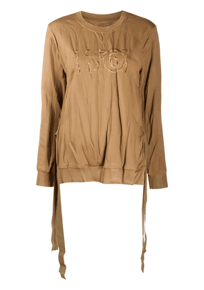 MM6 Maison Margiela knot-detail sweatshirt - Brown