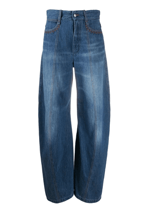 Chloé high-waisted balloon leg jeans - Blue