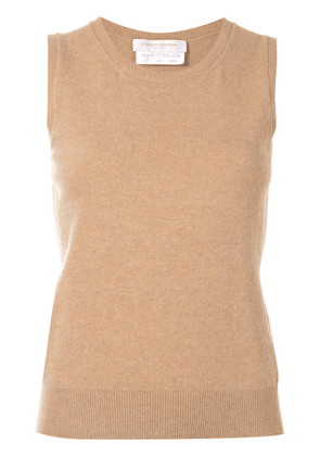 Carolina Herrera sleeveless knitted vest - Brown