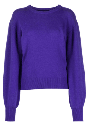 Federica Tosi long bell sleeve sweater - PURPLE