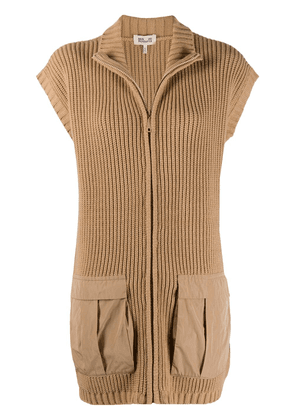 Baum Und Pferdgarten short-sleeved zip-up cardigan - Neutrals