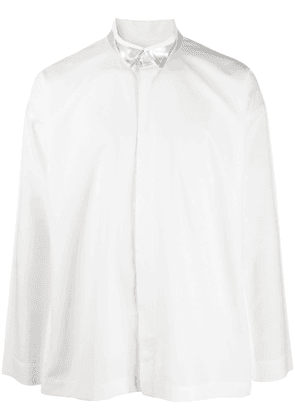 Homme Plissé Issey Miyake buttoned long sleeve shirt - White