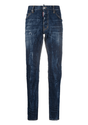 Dsquared2 logo patch straight-leg jeans - Blue