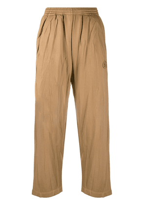 MM6 Maison Margiela cropped track pants - Brown