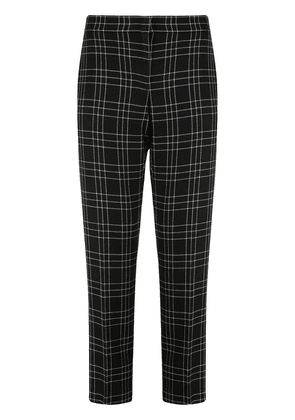 Alexander McQueen checked cropped trousers - Black
