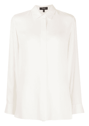 Theory long sleeved crepe shirt - Neutrals