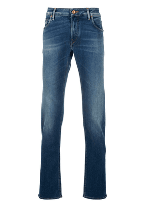 Hand Picked straight leg light-wash jeans - Blue