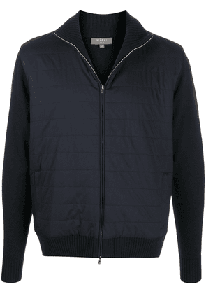 N.Peal contrasting cuff padded jacket - Blue