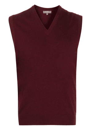 N.Peal V-neck ribbed knit sweater - Red