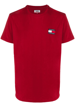 Tommy Jeans short sleeve logo patch T-shirt - Red