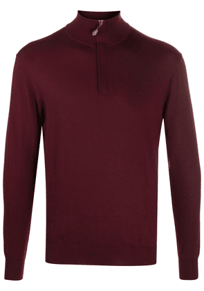 N.Peal zipped cashmere sweater - Red