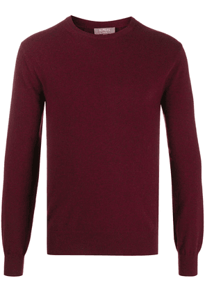 N.Peal long sleeve ribbed knit jumper - Red
