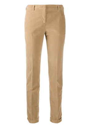 Incotex slim-fit chino trousers - Brown