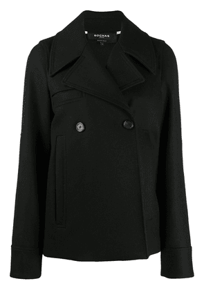 Rochas fitted two-buttton peacoat - Black