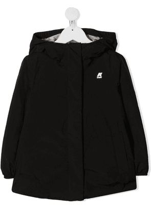 K Way Kids Marguerite hooded jacket - Black